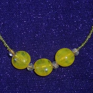 🌴Yellow Glass Necklace